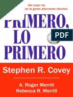 Stephen R. Covey - Primero Lo Primero
