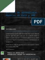 PPT ESTILOS DE APRENDIZAJE VAK/KOLB