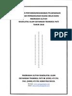 LPJ Pembangunan R. Kelas Baru MA