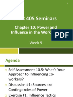 Week 9_Power and Influence in the Workplace_Student