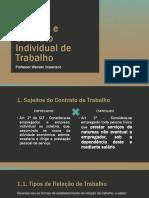 Sujeitos e Contrato Individual de Trabalho Modificado