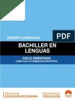 Bachiller con orientación en LENGUAS. Educación Secundaria Obligatoria. Ministerio de Educación de Tucumán