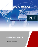 HSDPA Mobility discussion session
