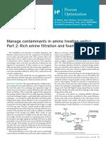 Amine Unit Management of Contaminants