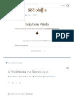 A Violência e a Sociologia _ Sociologia