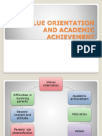 Chapter 6 (Latest) - Value Orientation and Academic Achievement