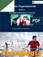 Sesión 8 Diseño Organizacional Tecnología Manufactura Ucv II Ciclo 2018