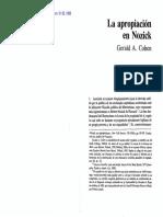 G. Cohen-La Apropiación en Nozick