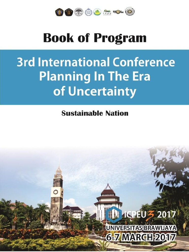 Book Of Program 3rd Icpeu 2017 Sustainability City