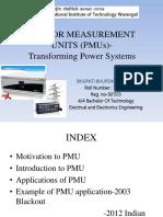 Phasor Measurement Units (Pmus)- Transforming Power