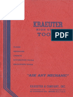 Kraeuter Tools Catalog No. 18 1939