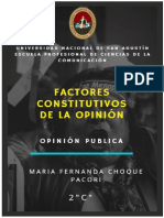 FACTORES CONSTITUTIVOS DE LA OPINION