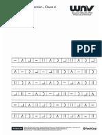 Planilla de Corrección - Claves a y B