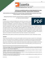 A Participação Do Farmacêutico Na Identificação Ou Monitoramento de Reações  ADVERSAS A MEDICAMENTOS NO BRASIL