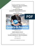 Entregable Unid Tres Gerencia de Proyectos 30 Abril de 2018