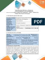 Guía de actividades y rúbrica de evaluación - Fase 3 - Valorar los riesgos del proyecto del grupo