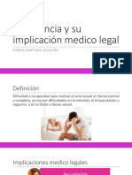 Impotencia y Su Implicación Medico Legal