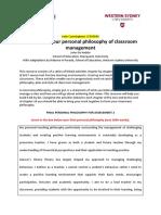 jade cunningham personal philosophy log