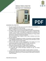 Manual Para Encendido Del Reactor