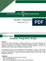 Vendor Evaluation BL V3.0