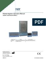 Platelet Agitator Operation Manual 360092 1