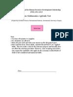 JDS Math Solution2012