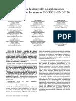 Metodología de Desarrollo de Aplicaciones Ferroviarias Según Las Normas ISO 9001 - En 50126