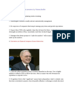 Tips and Advice for Smart Investors by Warren Buffet