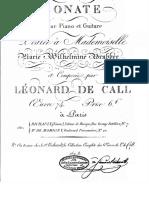 Sonata for Piano and Guitar, Leonhard Von Call, Op. 74.PDF