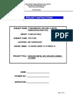 Workshop Worksheet - SMAW(T-JOINT)
