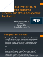 Causes of Students Stress Its Effects
