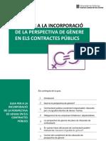 Guia per a la incorporació de la perspectiva de gènere en els contractes públics