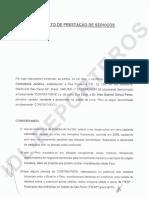 Contrato suscrito entre Alan García y el estudio de abogados Spinola Consultoría Jurídica