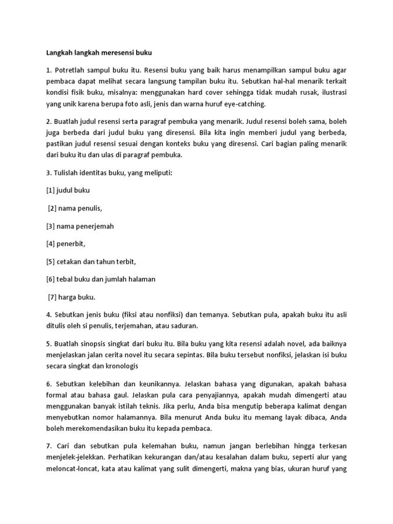 Jelaskan Apa Yg Dimaksud Dengan Resensi Buku Vinny Oleo Vegetal Info