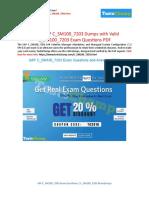 How To Prepare SAP C_SM100_7203 Exam ?