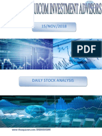 Stock to Watch Daily 15 Nov 2018