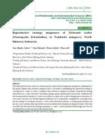 Reproductive strategy uniqueness of Littoraria scabra (Gastropoda