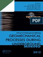 PT Amir Hajar Kilsi - Geomechanical Processes Underground Mining