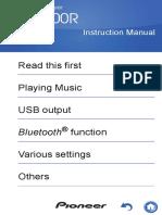 PIoneer XDP-300R Manual