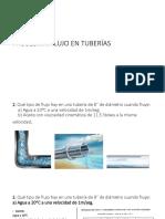 Tipos de flujos en tuberías