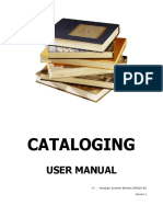 Cataloging Manual 20100104