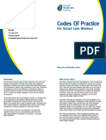 Codes of Practice for Social Care Workers