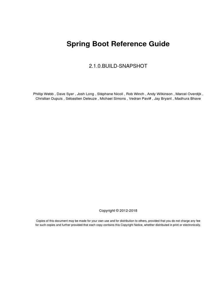 spring boot reference | Java Servlet | Software Engineering
