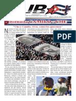 REVISTA CUBA+ Nº26 NOV-2018  AÑO V. IMPULSANDO LA SOLIDARIDAD CON CUBA