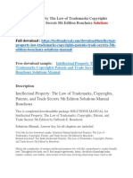 Intellectual Property the Law of Trademarks Copyrights Patents and Trade Secrets 5th Edition Bouchoux Solutions Manual