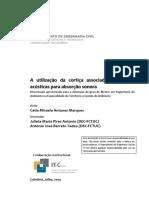 A utilizacao da cortica associada a espumas acusticas para absorcao sonora.pdf