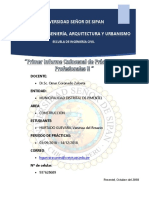 ingenieria civil ,informe de practicas  en obra
