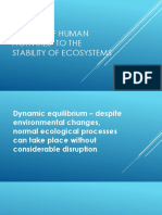 Effects of Human Activities to the Stability Of