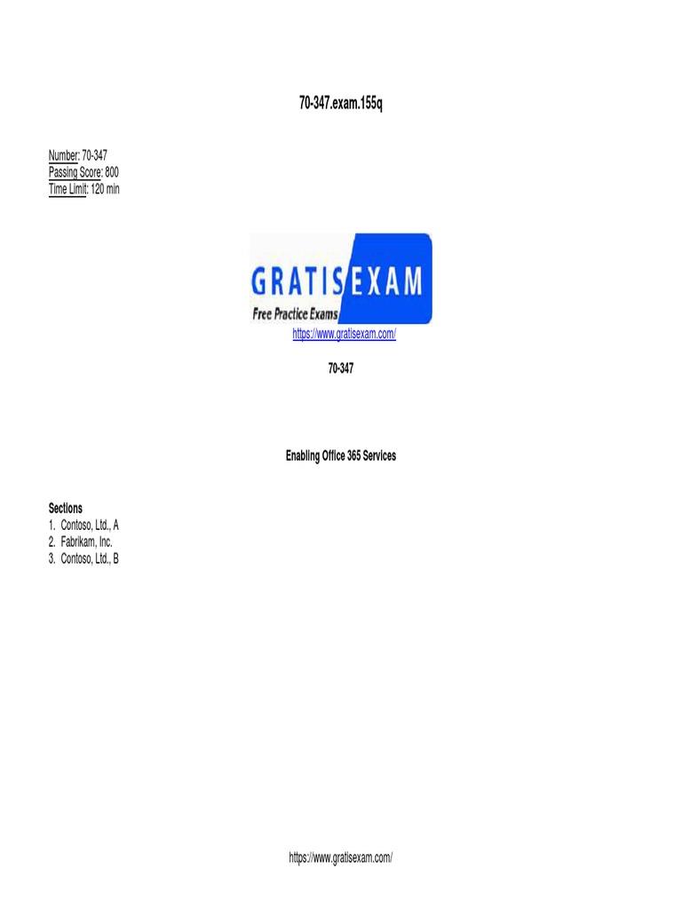 Gratisexam com Microsoft braindumps 70 347 v2018!09!17 by