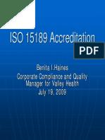 ISO15189AccreditationAACCBenitaHaines_July2009